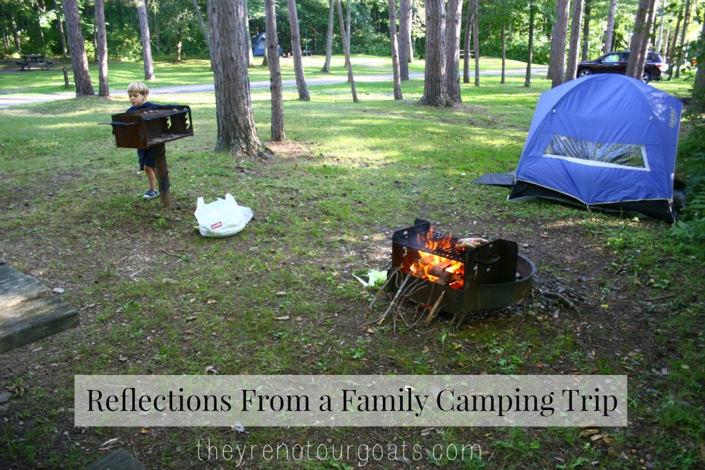 reflections from a family camping trip