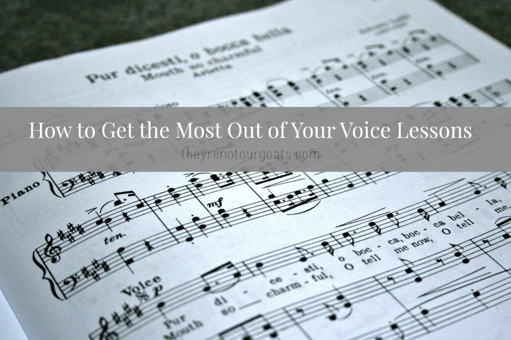 how to get the most out of your voice lessons