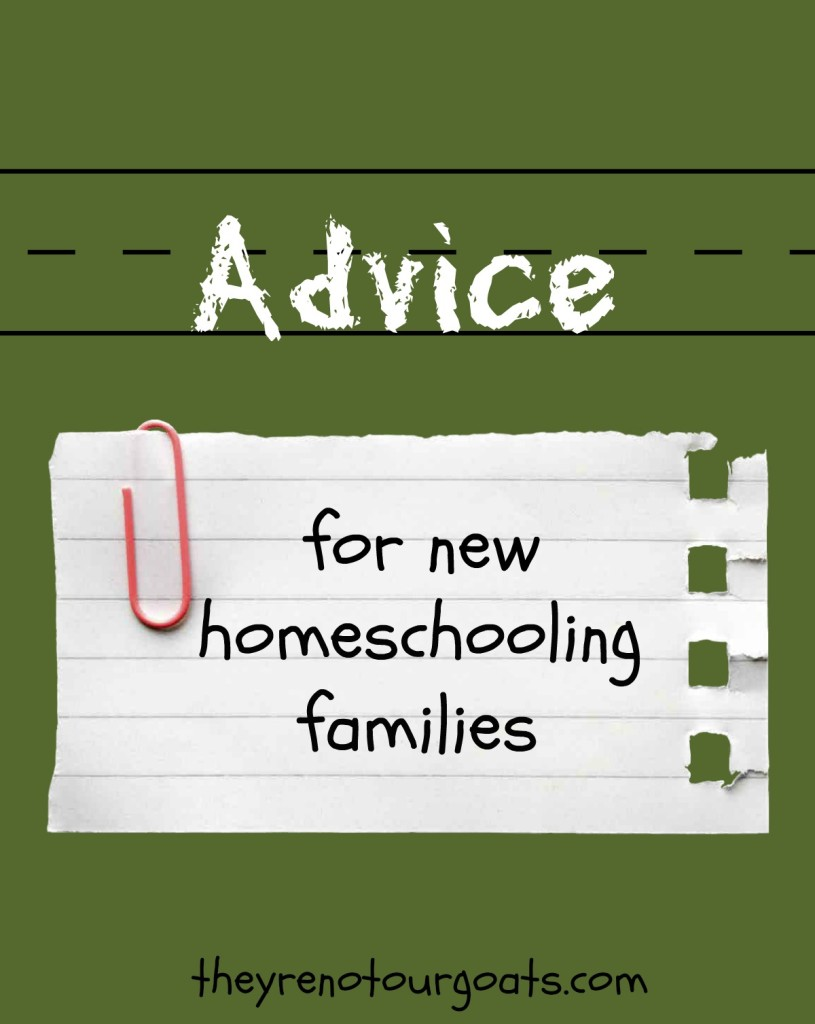Advice for new homeschooling families