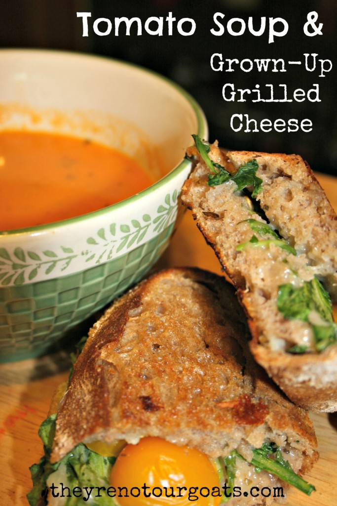 Tomato Soup & Grown-Up Grilled Cheese