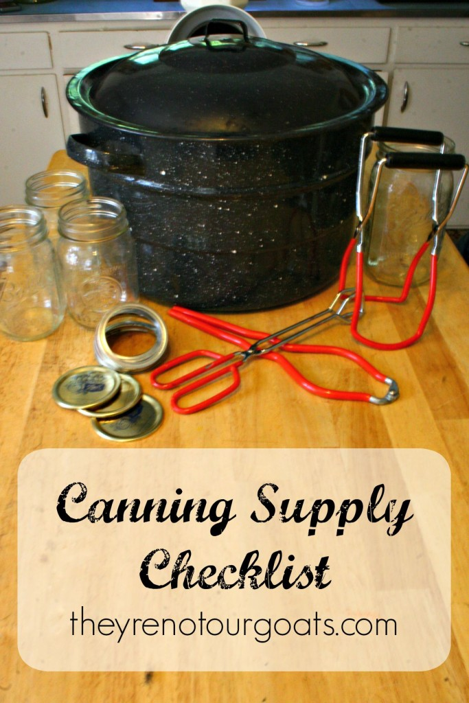 Canning Supply Checklist