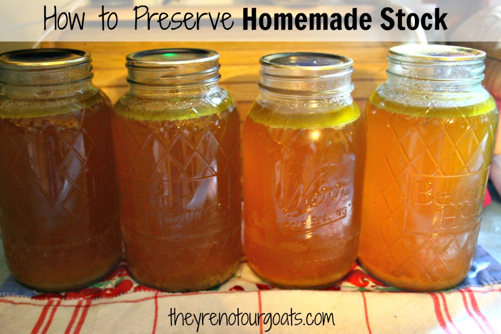 How to Preserve Homemade Stock