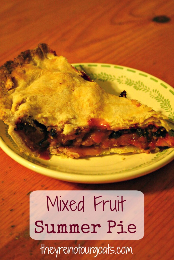 Mixed Fruit Summer Pie- how to use up the ends of seasonal fruit!