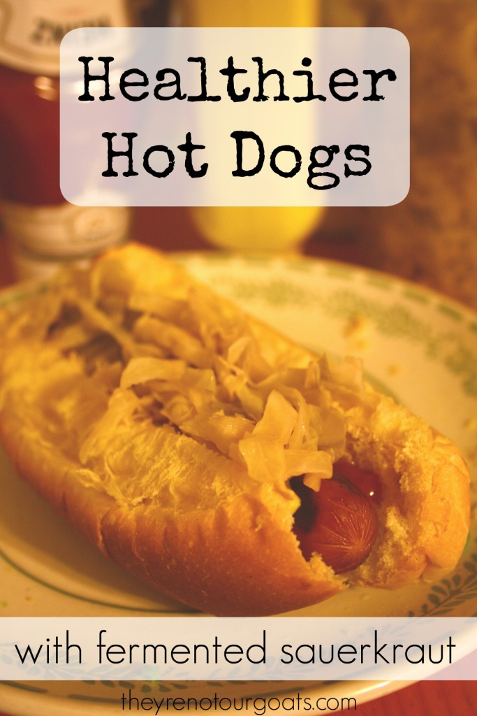 Healthier hot dogs with fermented sauerkraut