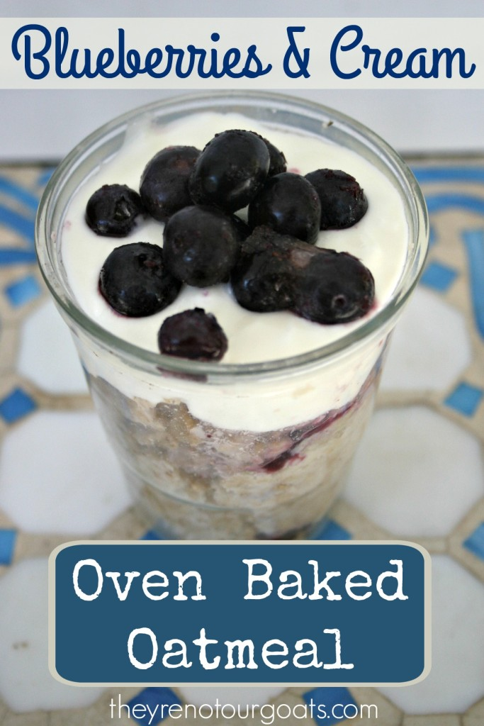 Blueberries & Cream Oven Baked Oatmeal
