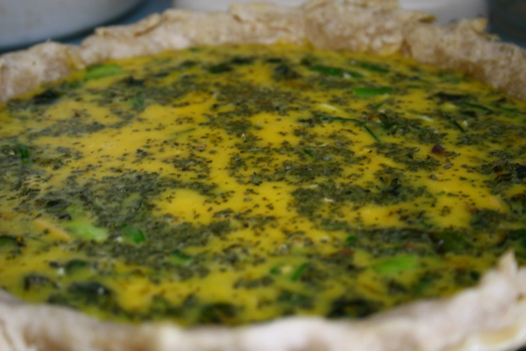 A quiche recipe made with foraged dandelions. Delicious!