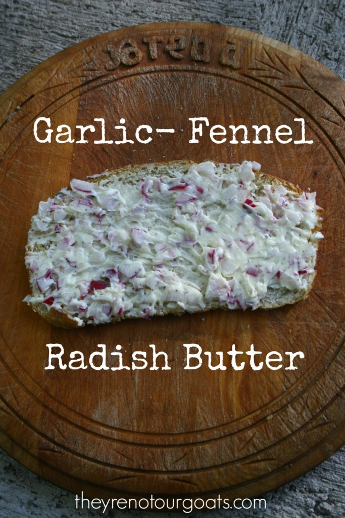 Turn some of your radish crop into this savory and addictive compound radish butter!