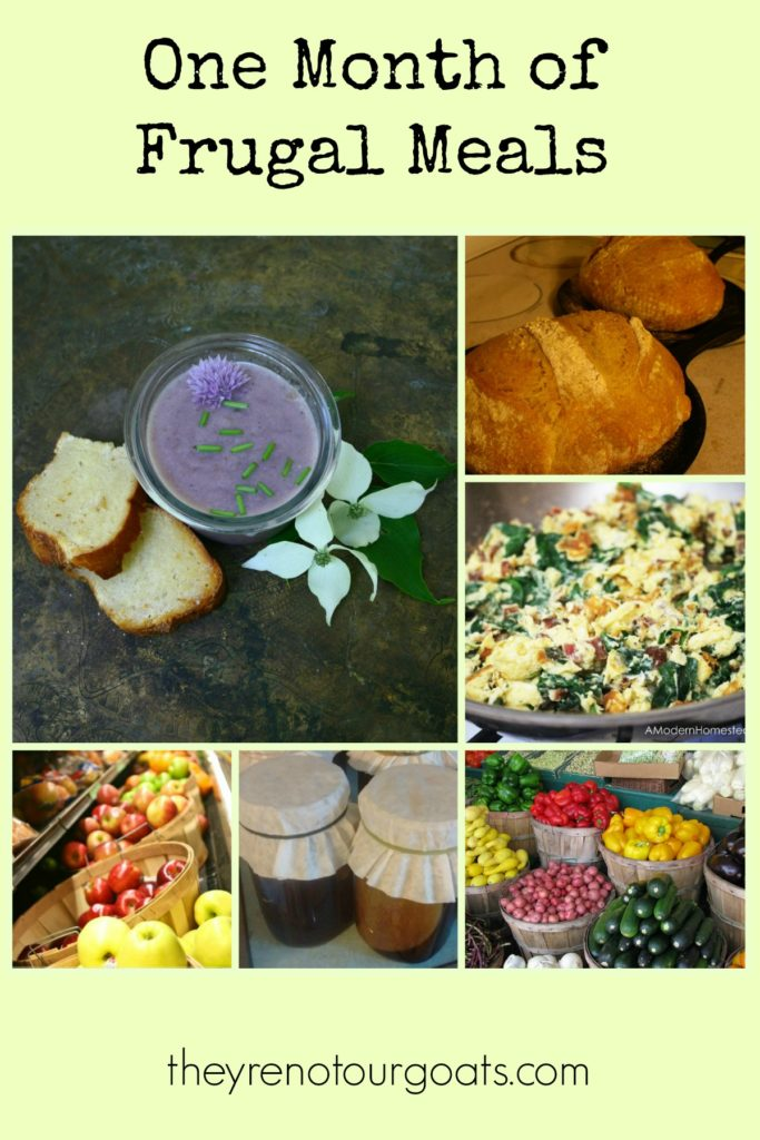 An entire month of frugal meals for planning and inspiration!