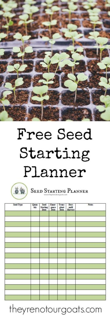 Get a free planner to keep track of all your garden seeds this spring!