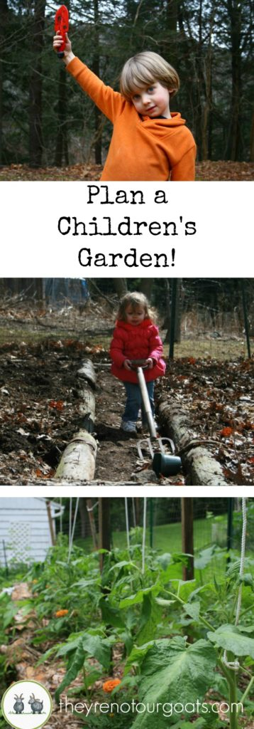 Go outside, get in the dirt, learn together. Make this the year that you make a garden just for your kids!