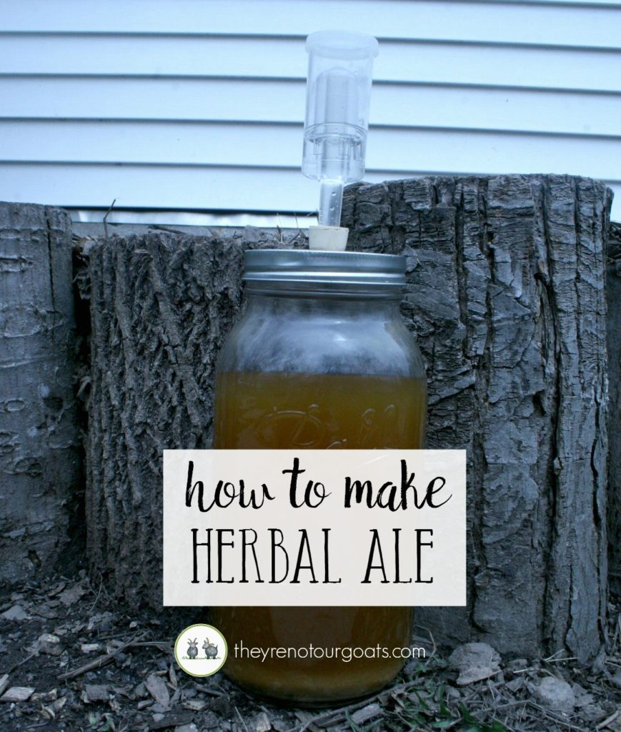How to brew your own herbal ale at home.