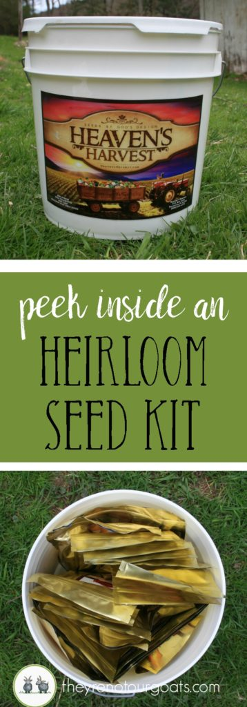 Look inside an heirloom seed kit to see if it's right for you!