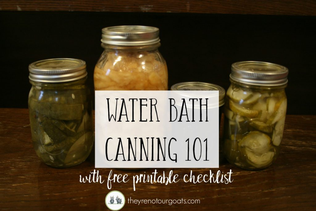 How to water bath can, plus a free printable checklist!