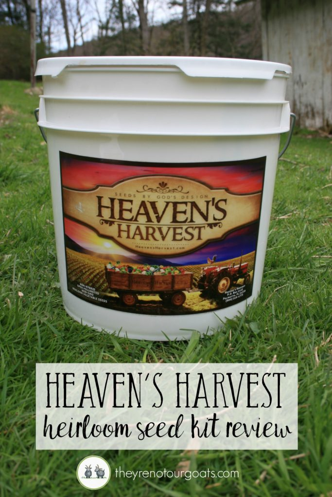 Take a look inside the heaven's harvest heirloom seed Kit.